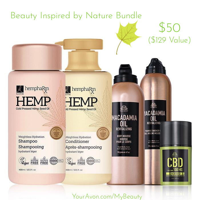 Beauty Inspired by Nature Bundle. $129 value for $50