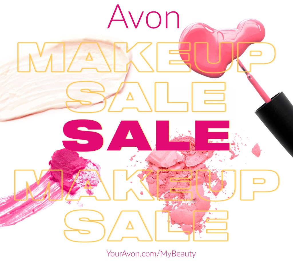 Avon's Annual Makeup Sale is here!  Everything makeup is on sale.  Up to 50% off.