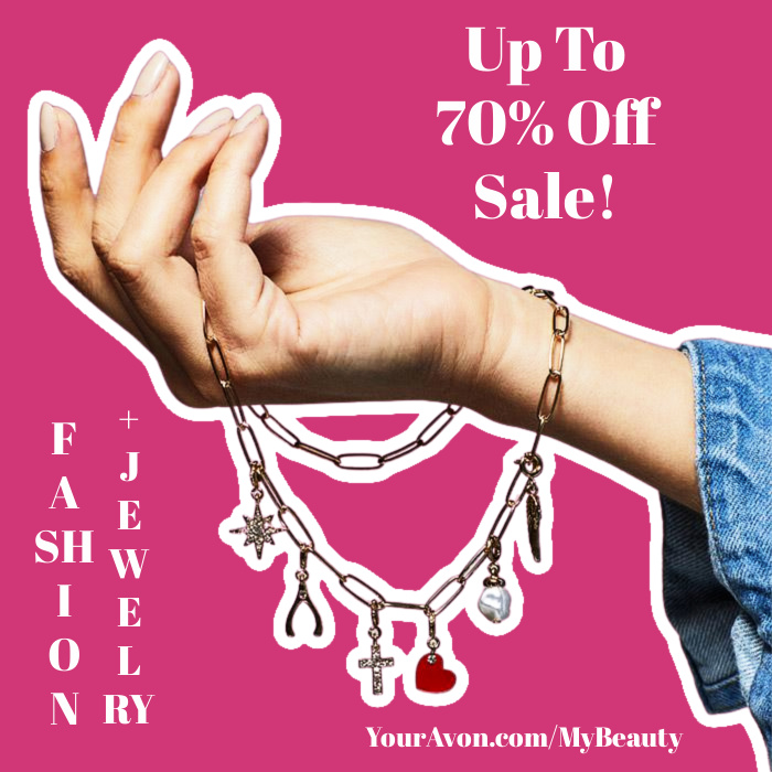 Up to 70% off Fashion and Jewelry Sale + save on beauty favorites from Avon.