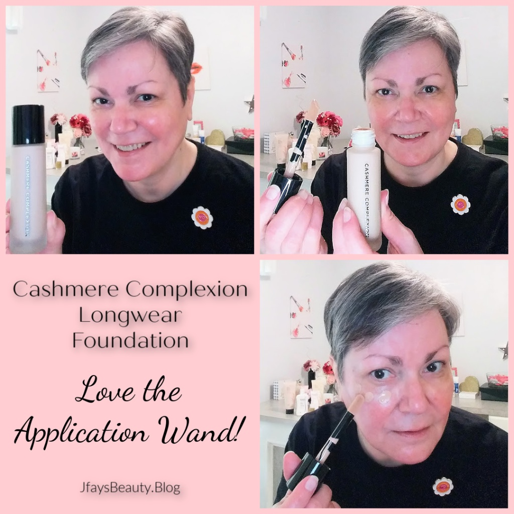 Cashmere Complexion Longwear Foundation from Avon.  I love the application wand!  Jfay's Beauty Blog.  Over 50 beauty, skincare, and makeup