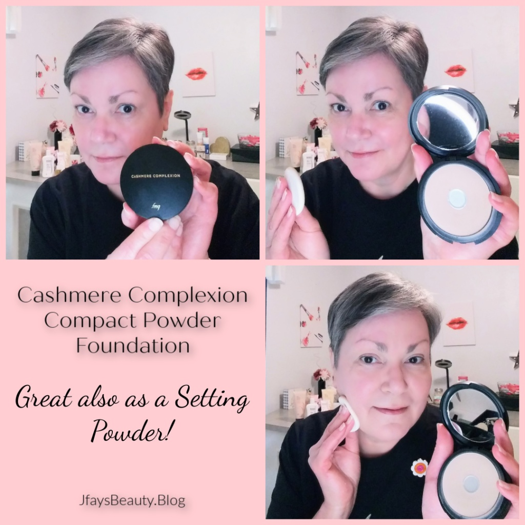 Cashmere Complexion Compact Powder Foundation is also great as a Setting Powder.  Great coverage for a flawless skin look.  From Avon.
