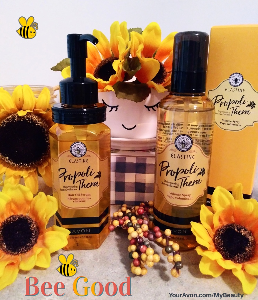 Rejuvenating hair care from bees, formulated to add new life to hair. Propoli Thera from Avon.