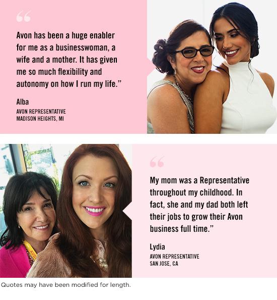 Avon Representatives share their Avon family stories.