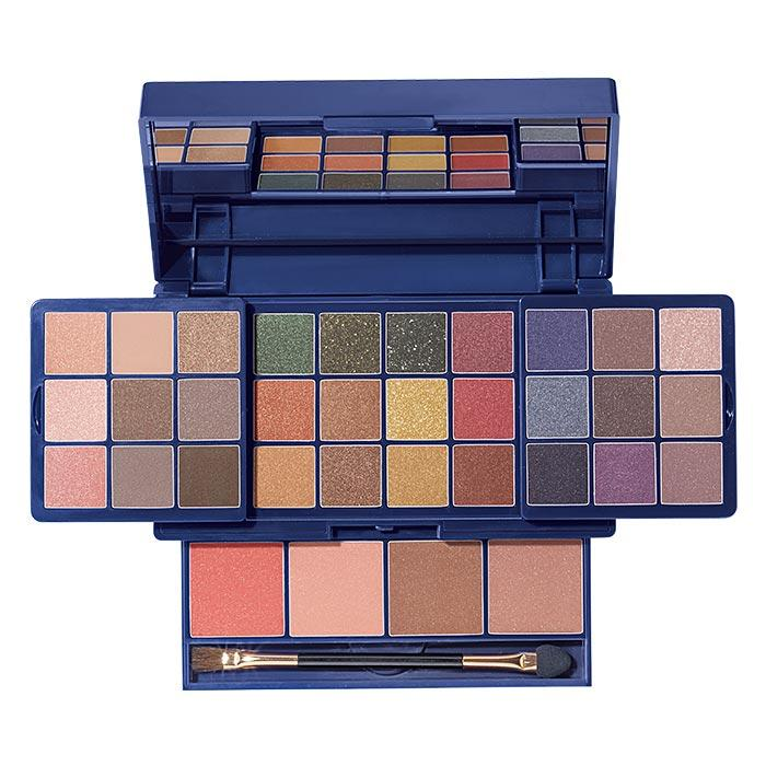 Avon Glow Up, Glim Up Mega Makeup Palette with 30 eyeshadows, and 4 blushes.  Now available.