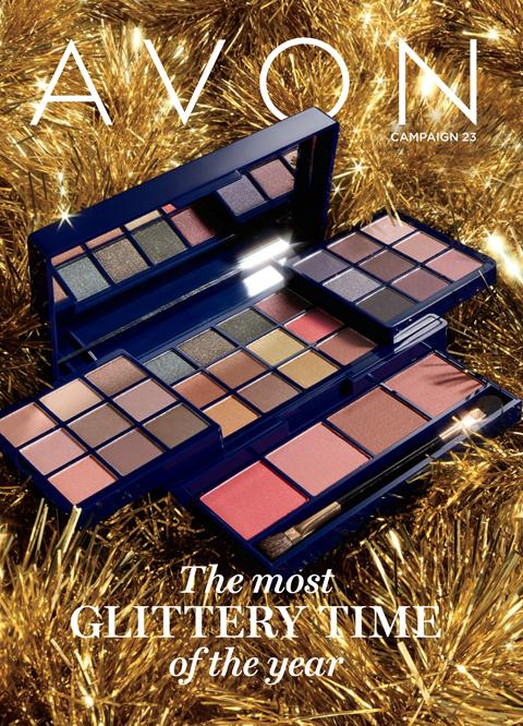 Avon Campaign 23 Brochure is now live with Christmas goodies.  It's the Most Glittery Time of the Year!