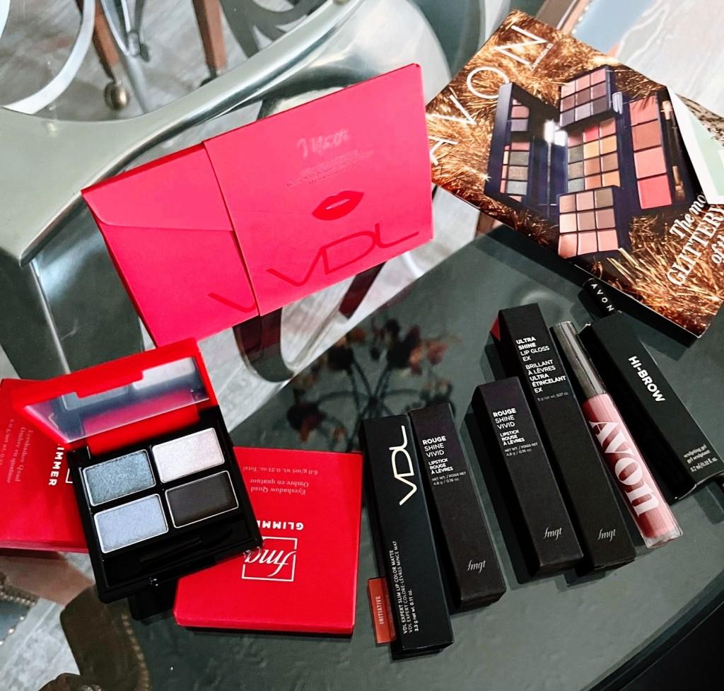 Avon beauty haul.  Makeup and lipsticks.